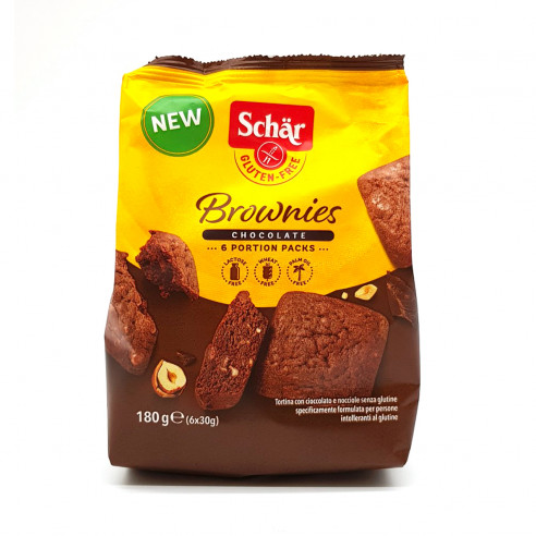 Schar Brownies Gluten Free Chocolate Cake 6x30g Gluten Free